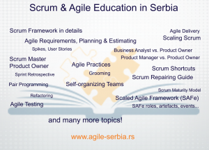 Agile Serbia by Puzzle Software - topics