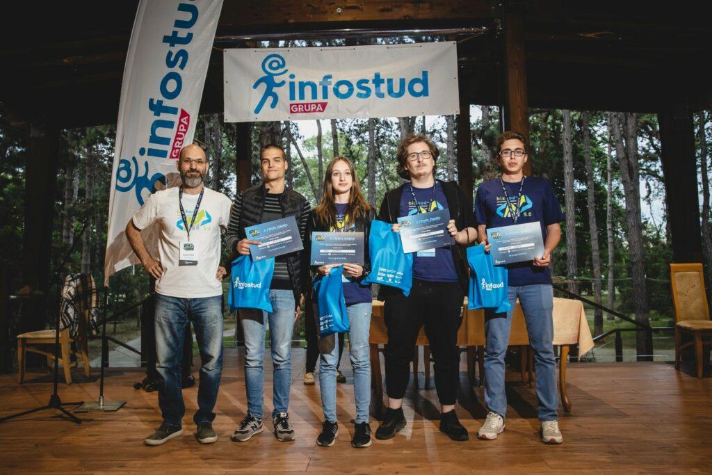 Programeri Pobednici takmičenja BIzKOd u organizaciji Infostud Grupe