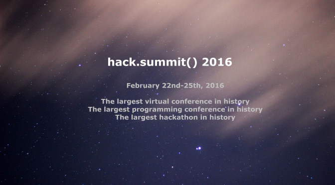hack.summit() 2016