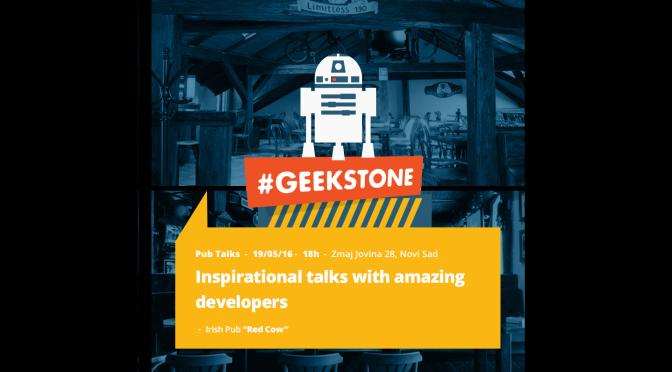 Geekstone Pub Talks + Radionica Crafting Code