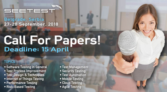 SEETEST 2018 - Call For Papers