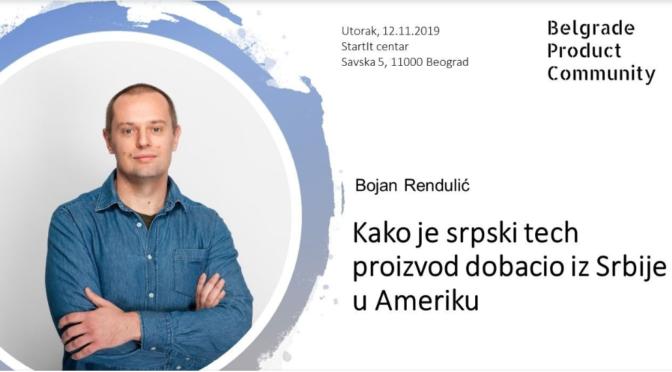 Predavanje: Kako je srpski tech proizvod dobacio iz Srbije u Ameriku
