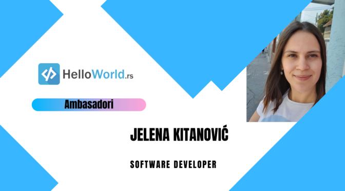 Jelena Kitanović, Software Developer