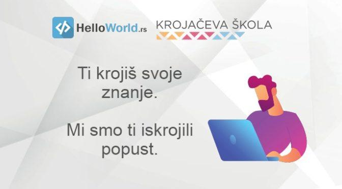HelloWorld ti poklanja 20% popusta na kurseve Krojačeve škole
