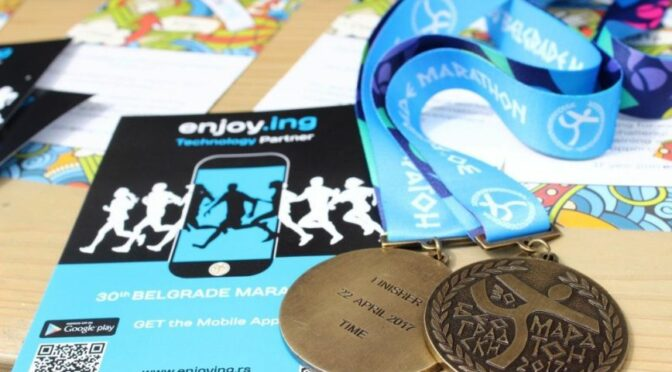 For the second year running, enjoy.ing supports the Belgrade Marathon